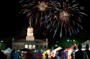 Fireworks Over the Old Capitol