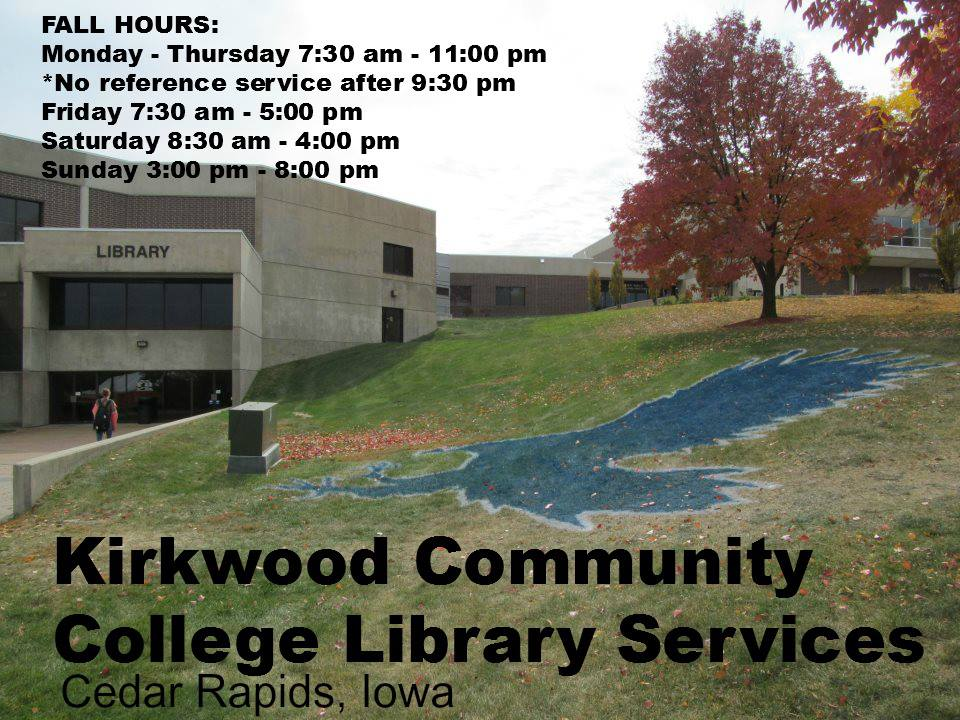 Kirkwood Community College Campus Map.Kirkwood Community College Library Libblog