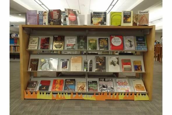 Kirkwood's d Banned Books Display 2014