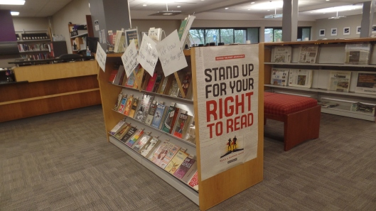 Banned Books Display 2016 Wide