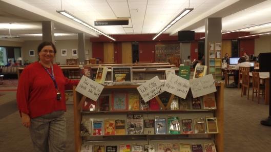 Sarah at Banned Books Week