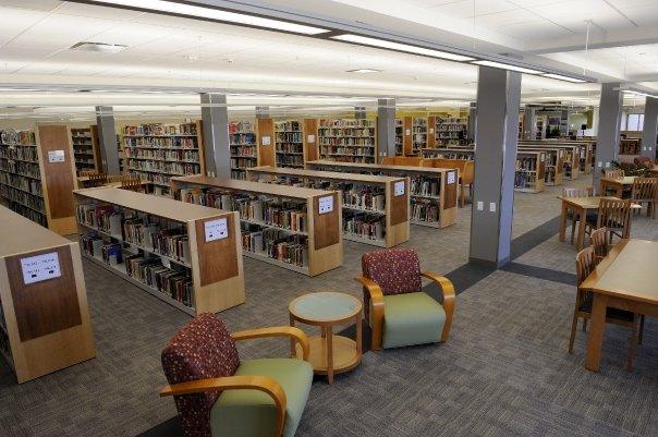 Second Floor of the Cedar Rapids Library