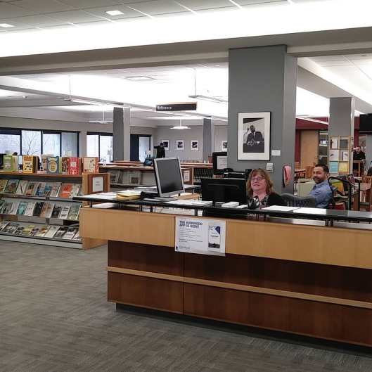 Library Reference Desk where you ask questions