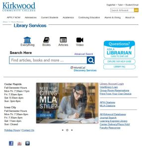 A screenshot of our website