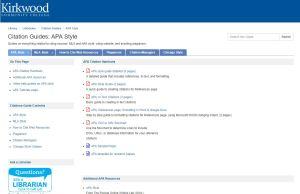 Screen Shot of LibGuide Example