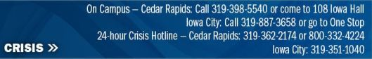 Crisis Contact Information Kirkwood Community College