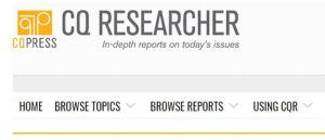 Top bar of CQ Researcher