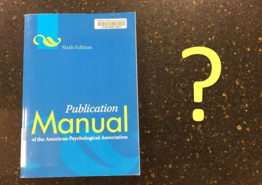 APA Book and Question Mark