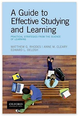 Cover of A Guide to Effective Studying and Learning