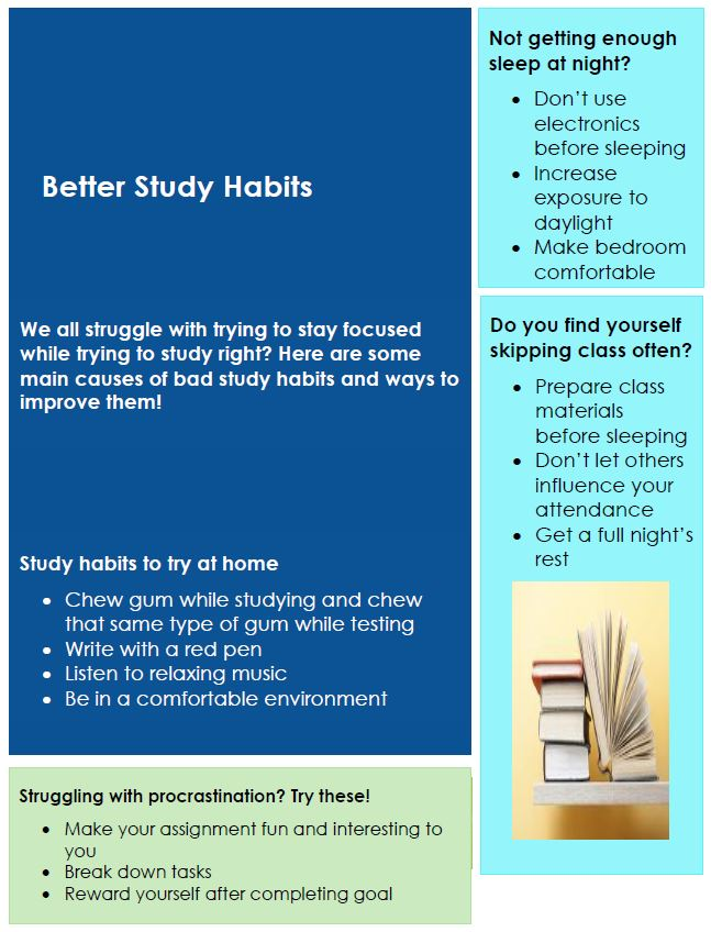 study habits snip